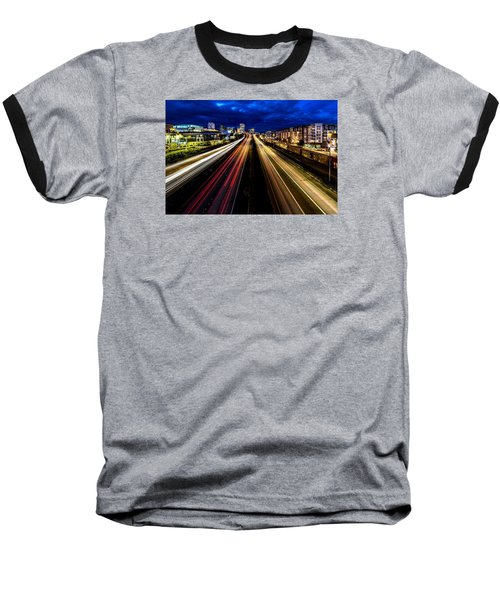 Light Streaks On 705 Baseball T-Shirt by Rob Green
