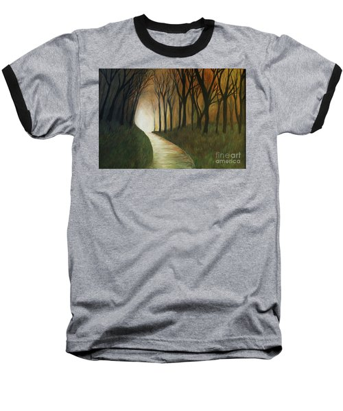 Baseball T-Shirt featuring the painting Light The Path by Christy Saunders Church