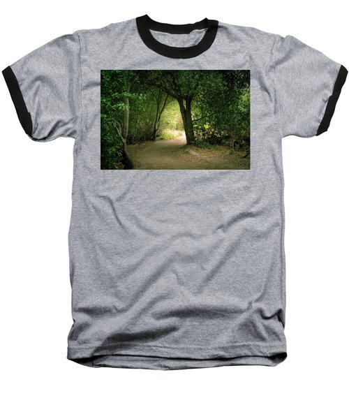 Light Through The Tree Tunnel Baseball T-Shirt