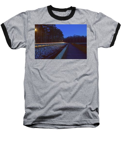 Light Trails On Elbow Road Baseball T-Shirt