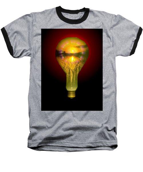 Lighthearted Sunset Baseball T-Shirt by Tim Allen