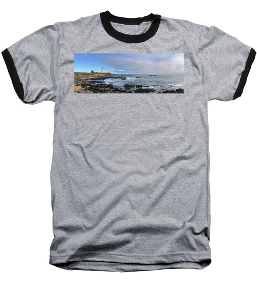 Lighthouse And Coastview Baseball T-Shirt