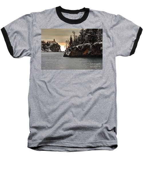 Lighthouse And Island At Dawn Baseball T-Shirt