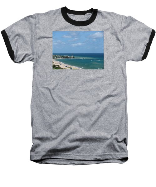 Lighthouse And Kiteboarding Baseball T-Shirt