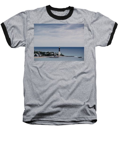Lighthouse And Rain Clouds Baseball T-Shirt