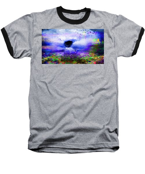 Lighthouse Angel Purple In Hotty Totty Style Baseball T-Shirt