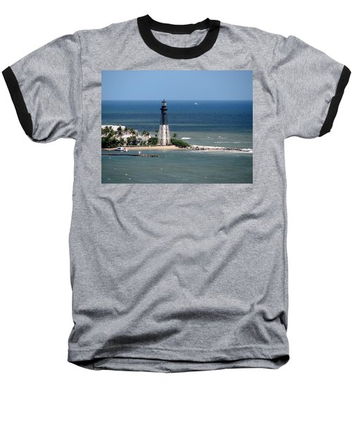 Lighthouse At Hillsboro Beach, Florida Baseball T-Shirt