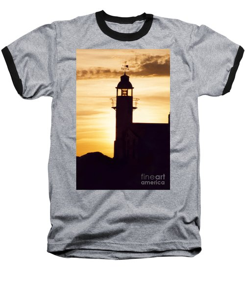 Lighthouse At Sunset Baseball T-Shirt