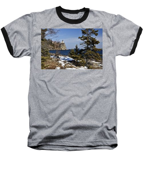 Baseball T-Shirt featuring the photograph Lighthouse Framed by Larry Ricker