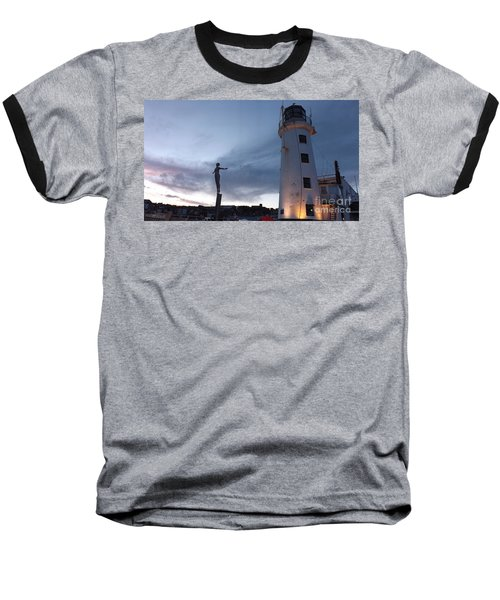 Lighthouse Lady 2 Baseball T-Shirt