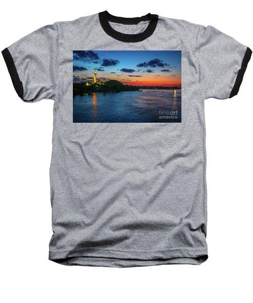 Lighthouse Light Beam Baseball T-Shirt