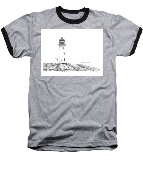 Lighthouse Of Peggy's Cove Baseball T-Shirt by Patricia Hiltz