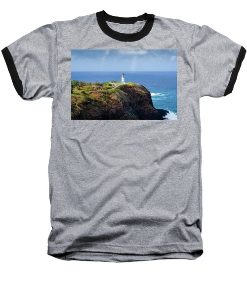 Lighthouse On A Cliff Baseball T-Shirt