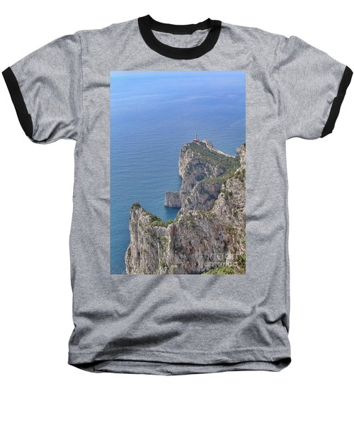 Lighthouse On The Cliff Baseball T-Shirt