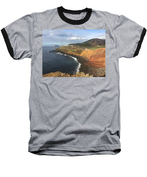 Lighthouse On The Coast Of Terceira Baseball T-Shirt by Kelly Hazel