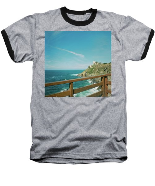 Lighthouse Over The Ocean Baseball T-Shirt