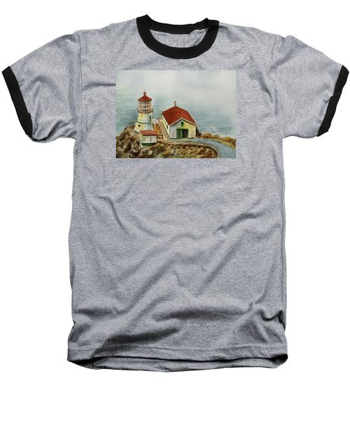 Lighthouse Point Reyes California Baseball T-Shirt