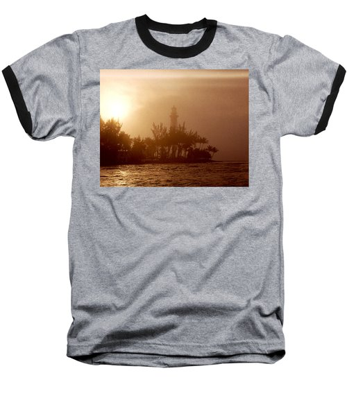 Lighthouse Point Sunrise Baseball T-Shirt by Brent L Ander