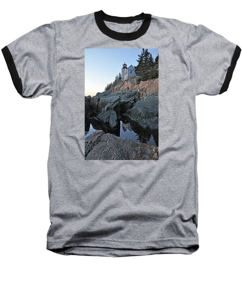 Baseball T-Shirt featuring the photograph Lighthouse Reflection by Glenn Gordon