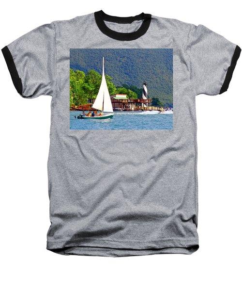 Lighthouse Sailors Smith Mountain Lake Baseball T-Shirt by The American Shutterbug Society