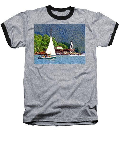 Lighthouse Sailors Smith Mountain Lake Baseball T-Shirt