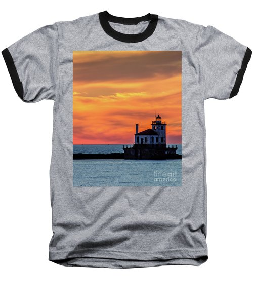 Lighthouse Silhouette Baseball T-Shirt