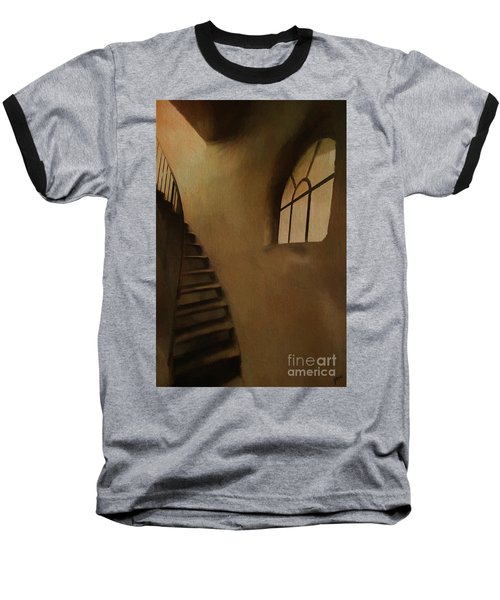 Baseball T-Shirt featuring the photograph Lighthouse Stairs by Jim  Hatch