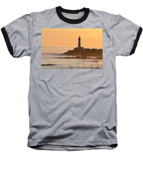 Baseball T-Shirt featuring the photograph Lighthouse Sunset by Alex King