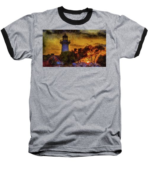 Lighthouse Sunset Baseball T-Shirt