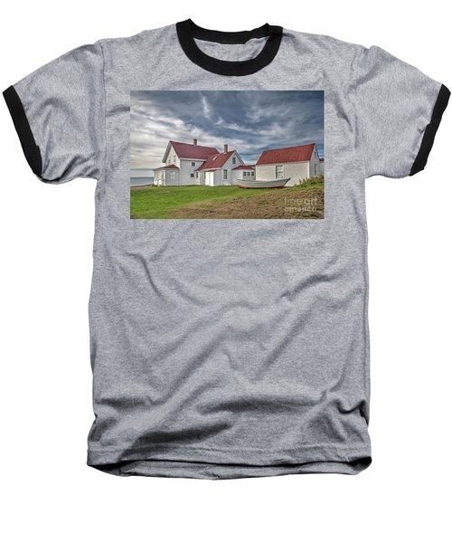Keepers House At The Monheagn Lighthouse Baseball T-Shirt