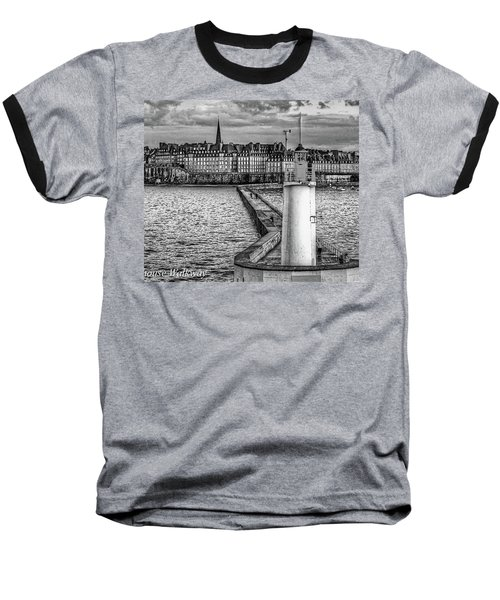 Baseball T-Shirt featuring the photograph Lighthouse Walkway by Elf Evans