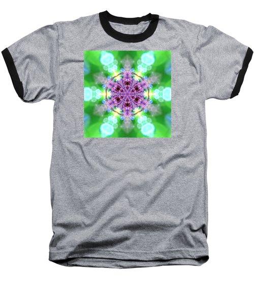 Baseball T-Shirt featuring the digital art Lightmandala 6 Star 3 by Robert Thalmeier