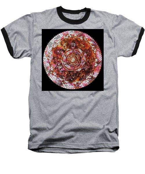 Baseball T-Shirt featuring the digital art Lightmandala 6 Star Morp 5 by Robert Thalmeier