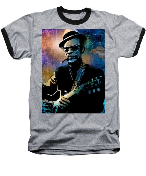 Lightnin Hopkins Baseball T-Shirt