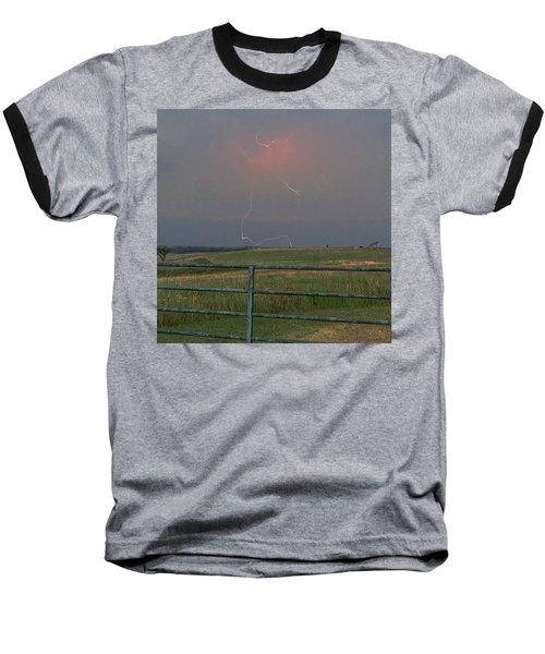 Lightning Bolt On A Scenic Route Baseball T-Shirt