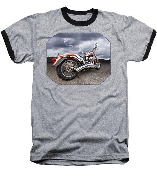 Lightning Fast - Screamin' Eagle Harley Baseball T-Shirt by Gill Billington