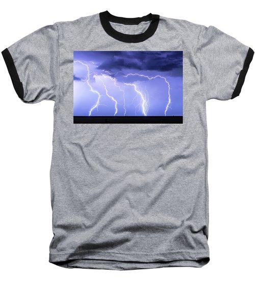 Lightning On The Plains Baseball T-Shirt