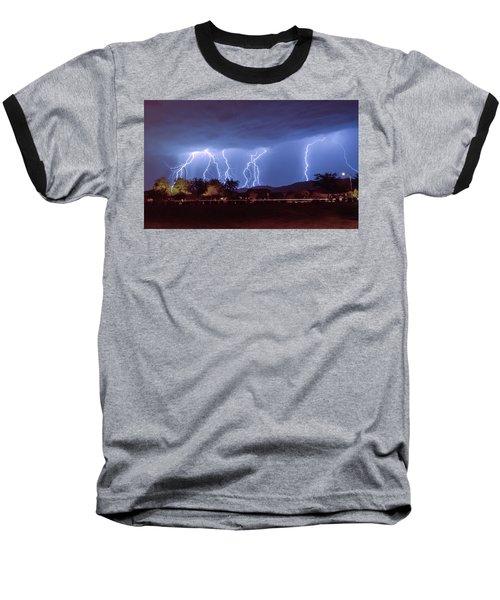 Lightning Over Laveen Baseball T-Shirt by Kimo Fernandez
