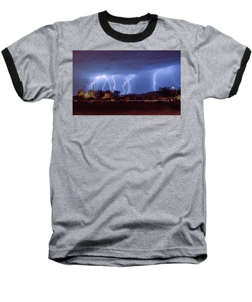Lightning Over Laveen Baseball T-Shirt