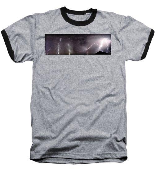 Lightning Over Perris Baseball T-Shirt
