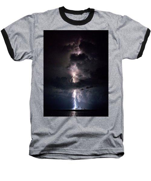 Lightning Baseball T-Shirt by Richard Zentner