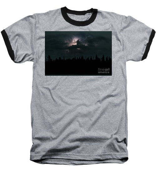 Lightning Storm Baseball T-Shirt