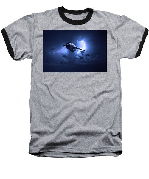 Lightning Storm Baseball T-Shirt
