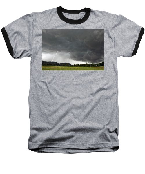 Lightning Strike On Tyringham Plain Baseball T-Shirt