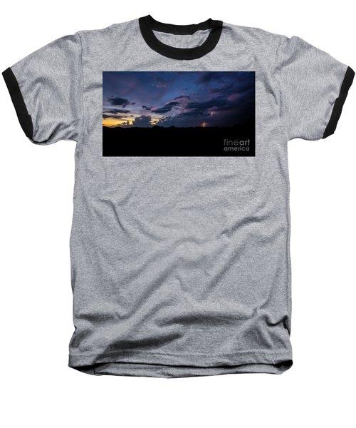 Baseball T-Shirt featuring the photograph Lightning Sunset by Brian Jones