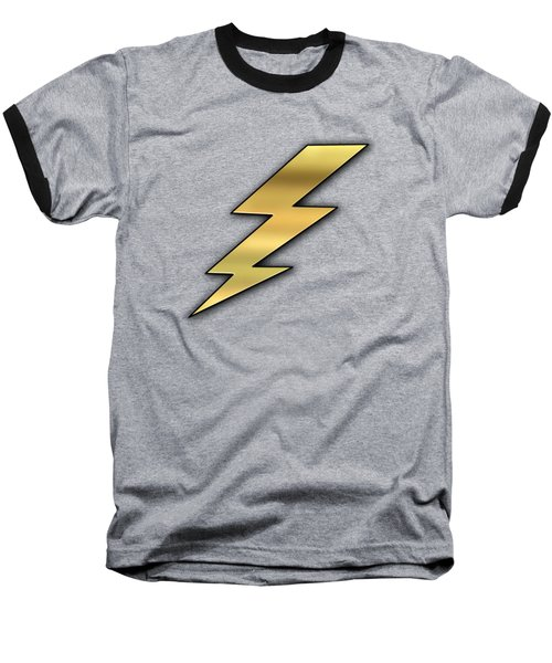 Lightning Transparent Baseball T-Shirt by Chuck Staley
