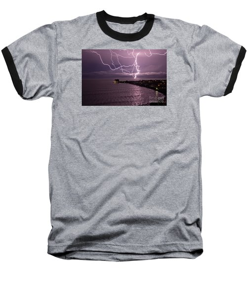 Lightning Up The Night Baseball T-Shirt