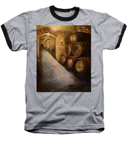 Lights In The Wine Cellar - Chateau Meichtry Vineyard Baseball T-Shirt