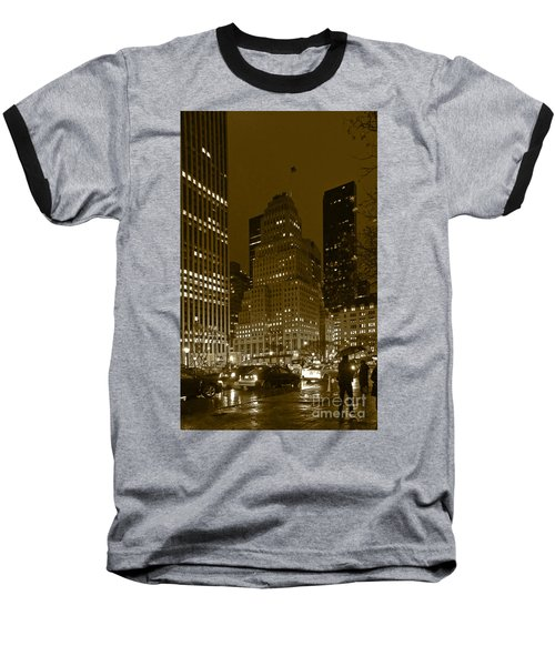 Lights Of 5th Ave. Baseball T-Shirt