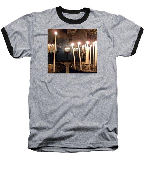 Lights Of Hope Baseball T-Shirt by Amelia Racca